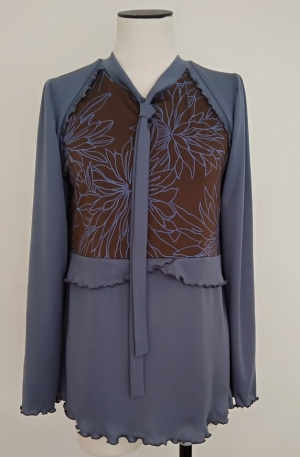 Combined long blouse